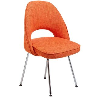 East End Imports EEI 622 ORA Cordelia Side Chair in Orange Fabric