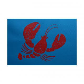 Nautical Nights Blue/Red Indoor/Outdoor Area Rug by e by design