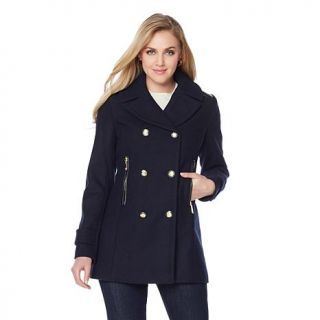 Vince Camuto Wool Blend Double Breasted Pea Coat   7814128