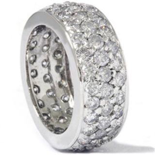 3 5/8ct Pave Diamond Eternity White Gold Wedding Ring