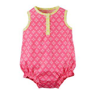 Carter's® Sleeveless Pink Romper   Baby Girl newborn 24m