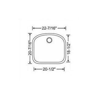 Blanco Wave 22.44 x 20.44 Single Bowl Undermount Kitchen Sink