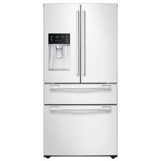 Samsung 24.73 cu ft 4 Door French Door Refrigerator with Single Ice Maker (White) ENERGY STAR