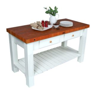 John Boos American Heritage Prep Table with Butcher Block Top