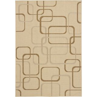 Chandra Ryan Beige Geometric Indoor/Outdoor Area Rug
