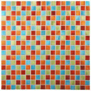 EliteTile Alundum Mini 0.56 x 0.56 Brushed Aluminum Mosaic Wall Tile