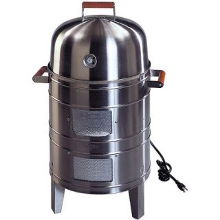 Meco Southern Country Smokers Stainless Steel 1500 Watt Electric Outdoor Water Smoker with 2 Levels Of Cooking