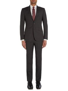 Simon Carter Ghost stripe slim fit suit jacket Grey