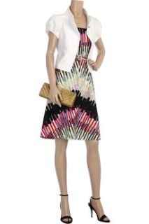 Paperclip printed strapless dress  Tracy Reese