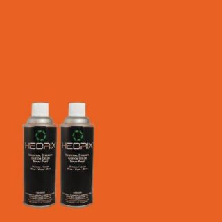 Hedrix 11 oz. Match of S G 230 Startling Orange Flat Custom Spray Paint (2 Pack) F02 S G 230
