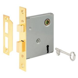 "Prime Line E2294 5 1/2"" Steel Brass Plated Mortise Lock Assembly"