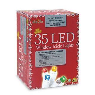 Brite Star 35 Light LED Icicle Set; Multi
