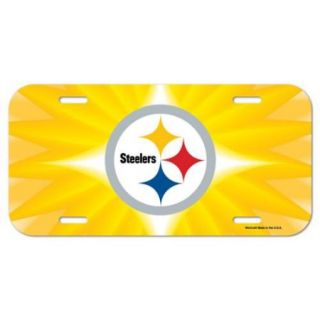 Pittsburgh Steelers Official NCAA 12 inch x 6 inch Plastic License Plate by Wincraft