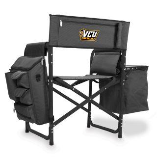 Picnic Time 807 00 679 954 0 Virginia Commonwealth Rams Digital Print Fusion Chair in Dark Grey Black
