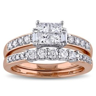 Miadora Signature Collection 14k Rose Gold 1ct TDW Diamond Bridal Ring
