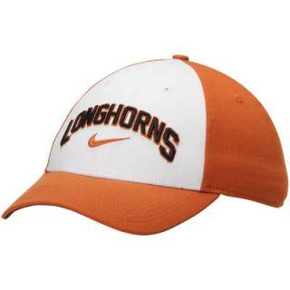 Texas Longhorns Nike Col L91 Verbiage Swoosh Flex Hat   White/Texas Orange