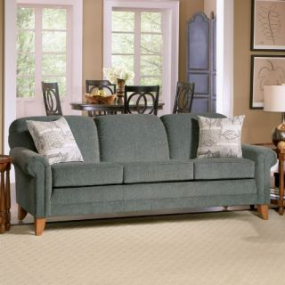 Charles Schneider Wells Olive Fabric Sofa with Accent Pillows