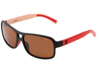 Zeal Optics Tofino Cafe Black Red W Cooper Polarized Lens, Eyewear