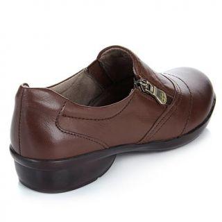 "Naturalizer ""Clarissa"" Leather Zip Up Athleisure Shoe   7850513"
