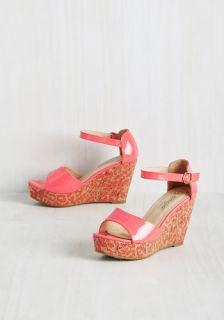 Glossed in Translation Wedge  Mod Retro Vintage Heels