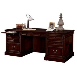 kathy ireland Home by Martin Mount View Double Pedestal Executive Desk with Optional Chair   Desks