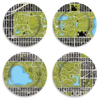 Garden 12 4 Piece Central Park Plate Set by notNeutral