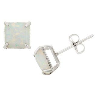 Tiara 2.48 CT. T.W. Princess Cut Opal Stud Prong Set Earrings in 10K