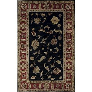 Dynamic Rugs Charisma Black / Red Rosewood Area Rug; 96 x 136