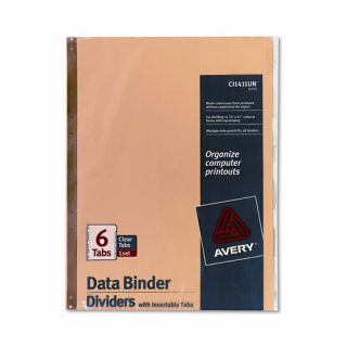 Gold Line Data Binder Insertable Tab Index, 14 7/8 X 11 (6 Tabs, 6/Set