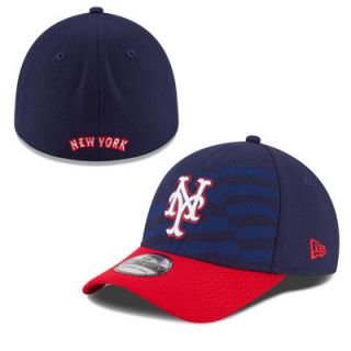New York Mets New Era New Era Stars & Stripes 4th of July Diamond Era 39THIRTY Flex Hat   Navy