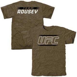 UFC Ronda Rousey Alpha Team Tri Blend T Shirt   Olive