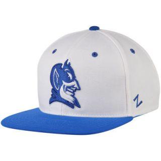 Duke Blue Devils Zephyr Z11 Snapback Adjustable Hat   White/Royal