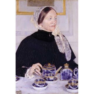 Lady at The Tea Table by Mary Cassatt Painting Print by Buyenlarge