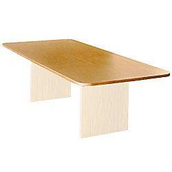 Bevis Basyx Rectangular Conference Tabletop 44 x 96  Medium Oak