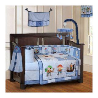 Babyfad Pirates Baby 10 Piece Crib Bedding Set