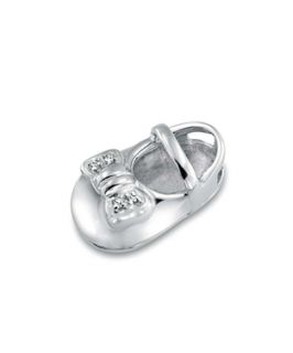 Bling Jewelry Bling Jewelry Mary Jane Baby Shoe Charm Cz Bow Necklace 925 Silver 16in (393552401)