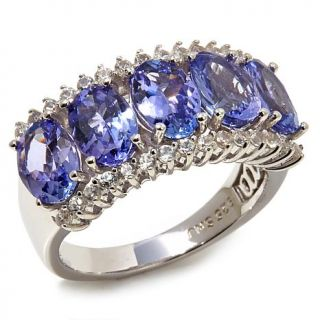 """Colleen Lopez """"Starry Eyed"""" 3.5ctw Tanzanite and White Zircon Sterling Silver B   7905077"""