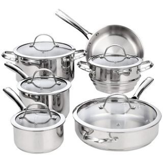 Cooks Standard 11 Piece Classic Stainless Steel Cookware Set by Cooks