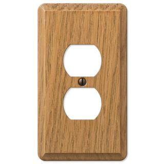 Amertac 901DL 1 Duplex Light Oak Solid Wood Wallplate   18837969