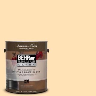 BEHR Premium Plus Ultra 1 gal. #P250 2 Golden Nectar Matte Interior Paint 175001