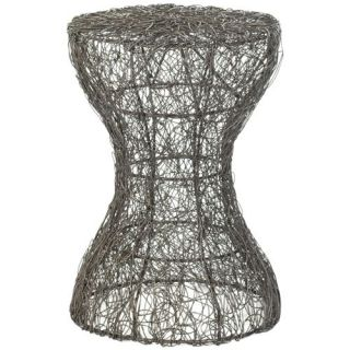 Safavieh FOX4505A Zig Zag Woven Wire Stool in Antique Zinc