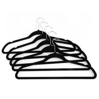 Seville Classics Black Velvet covered Metal Suit Hangers (40 Pack