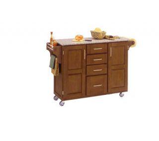 Home Styles LRG CreateACart Cottage Oak FinishBe/GraniteTop —