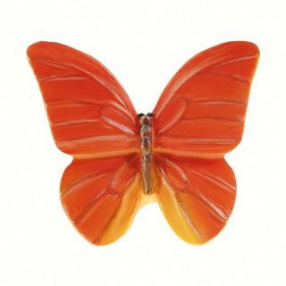 Siro Designs Butterflies Red Orange with Yellow Novelty Cabinet Knob