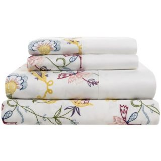 DownTown Designer Collection Printed Sheet Set   Queen, 400 TC Cotton Sateen 9882P 58