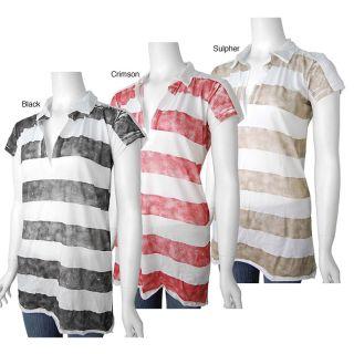 linQ Los Angeles Womens Stripe V neck Shirt   11243737