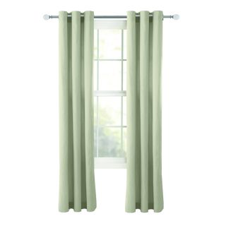 Style Selections Bernard 63 in Neutral Cotton Grommet Light Filtering Single Curtain Panel