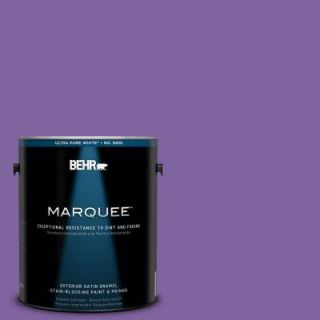 BEHR MARQUEE 1 gal. #PPU16 3 Purple Paradise Satin Enamel Exterior Paint 945301