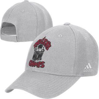 adidas Indiana Hoosiers Gray Vault 1981 College Basketball National Champions Adjustable Hat