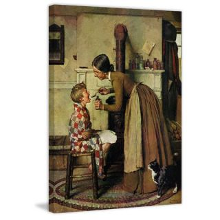Take Your Medicine by Norman Rockwell Painting Print on Wrapped Canvas